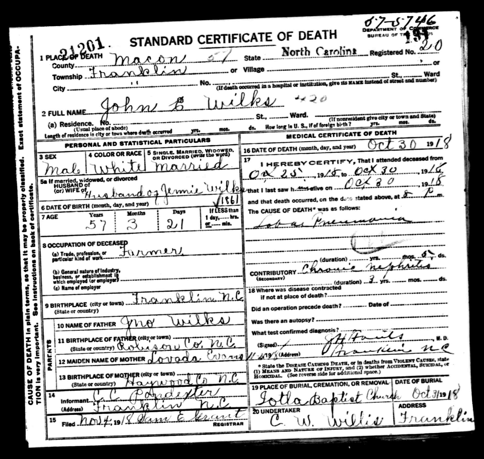 John e wilkes of macon county nc death certificate acw use the slider to resize the image john e wilkes of macon county nc death certificate xflitez Choice Image
